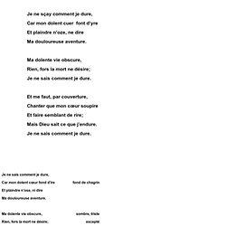 poeme lyrique