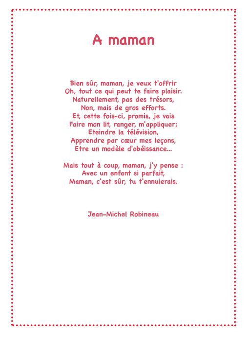 poeme o ma mere