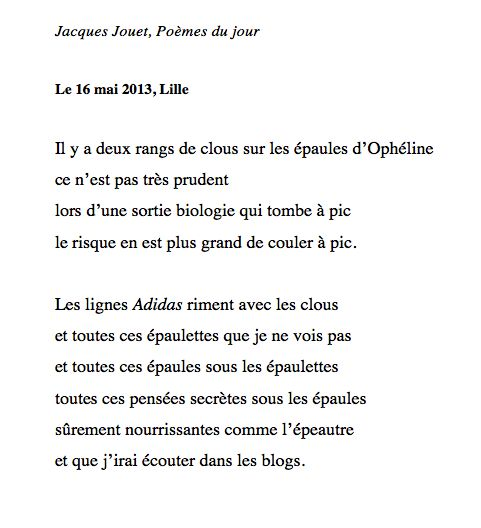 poeme oulipo