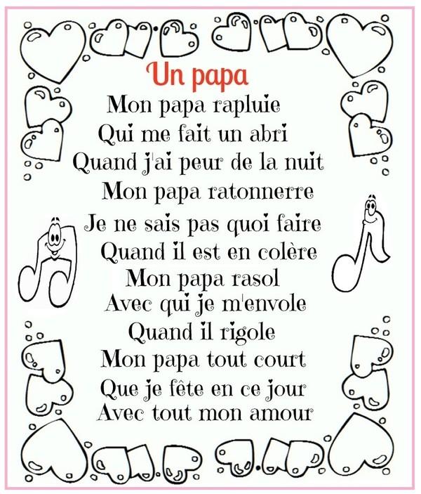 poeme pour papa