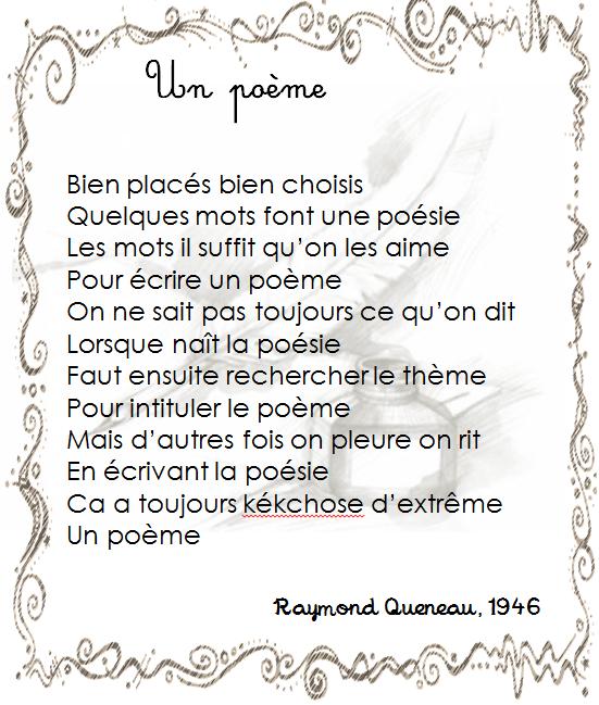 poeme r queneau