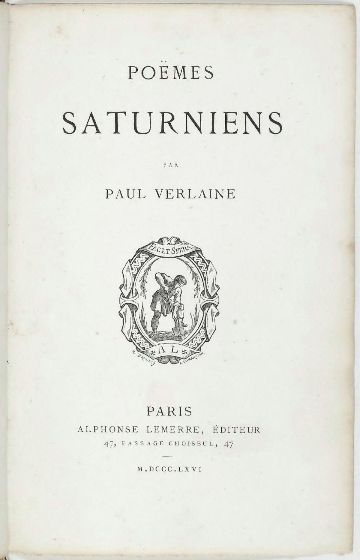 poeme saturniens