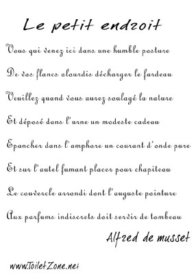 poeme toilette
