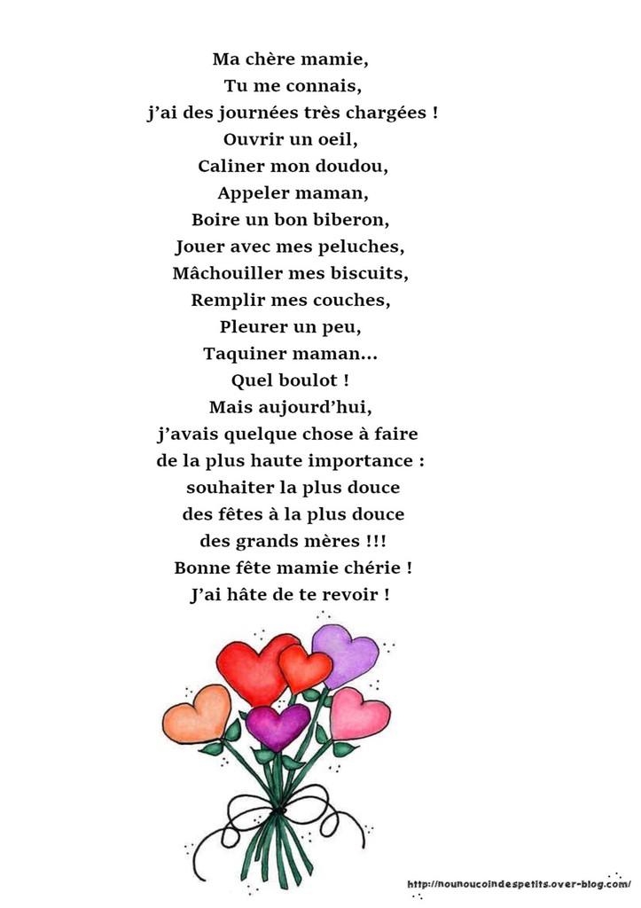poeme un coeur de mamie
