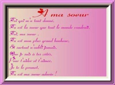 poeme une soeur