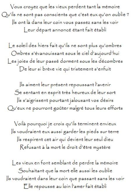 poeme vieillesse
