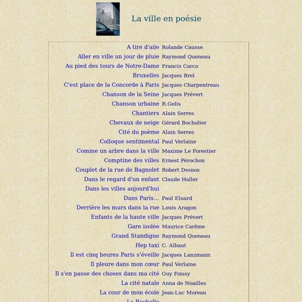 poeme ville