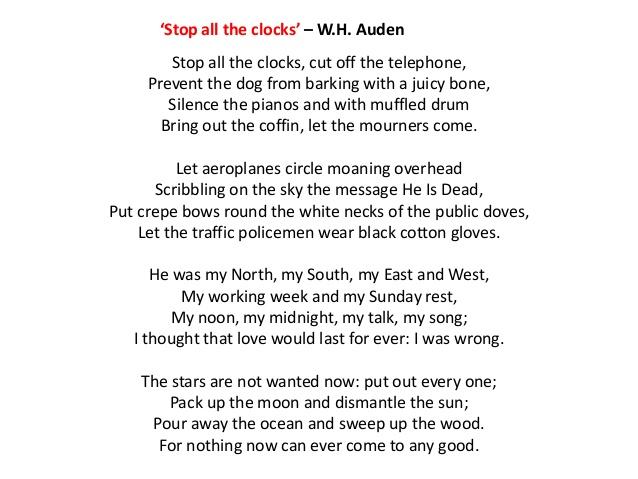 poeme w h auden