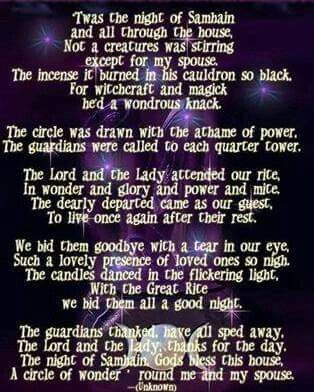 poeme wicca