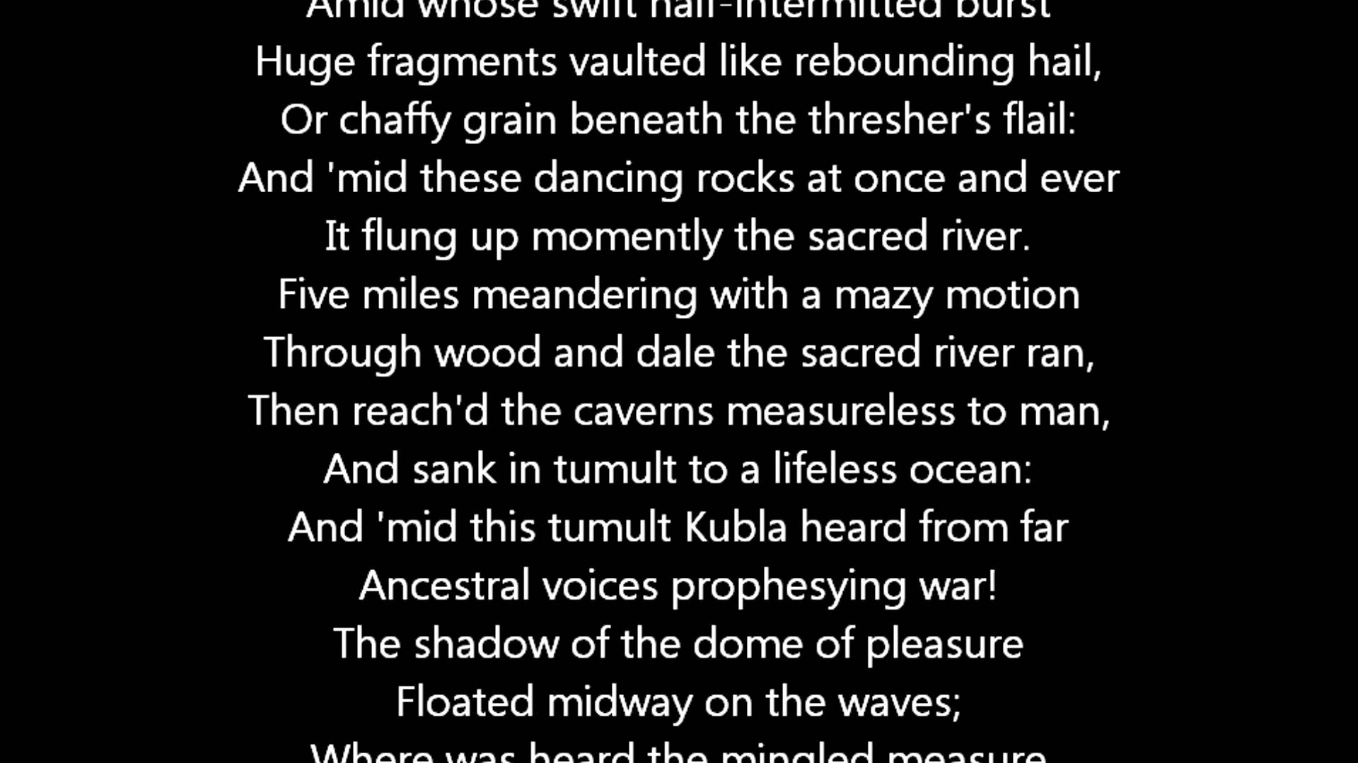 poeme xanadu