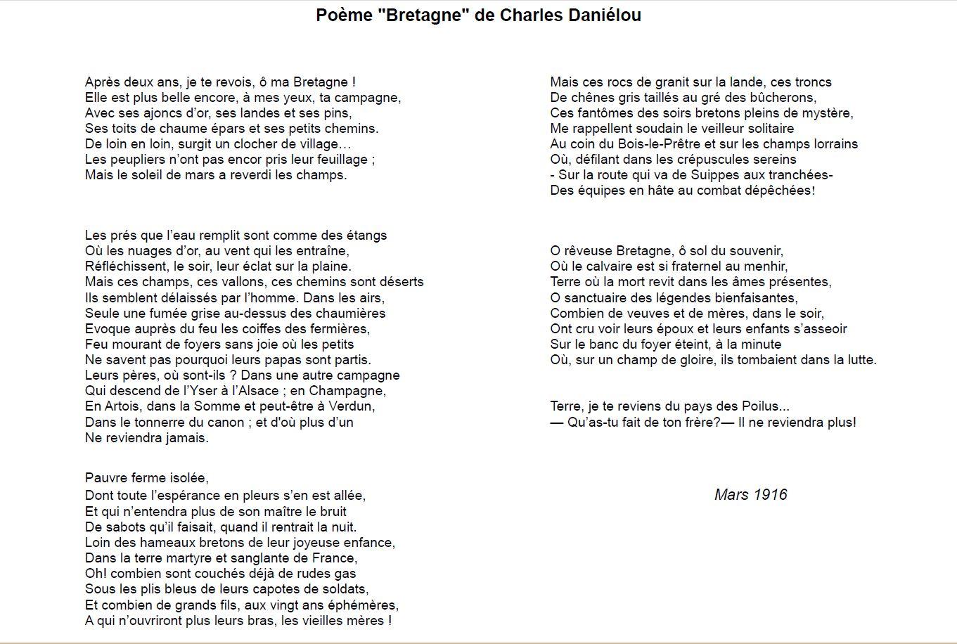 poesie 2 guerre mondiale