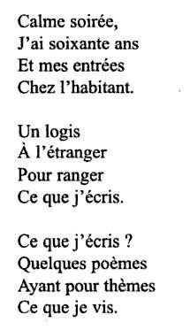 poesie 3 strophes