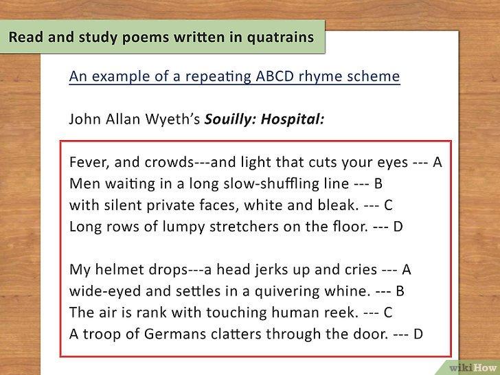poesie 4 quatrains