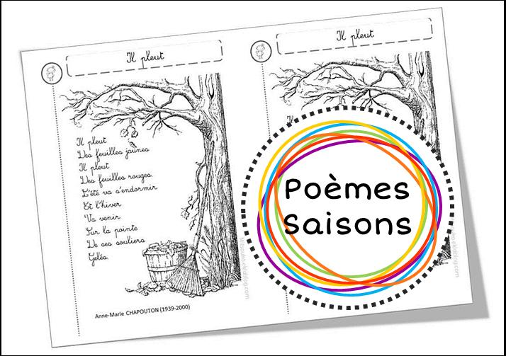 poesie 4 saisons cp