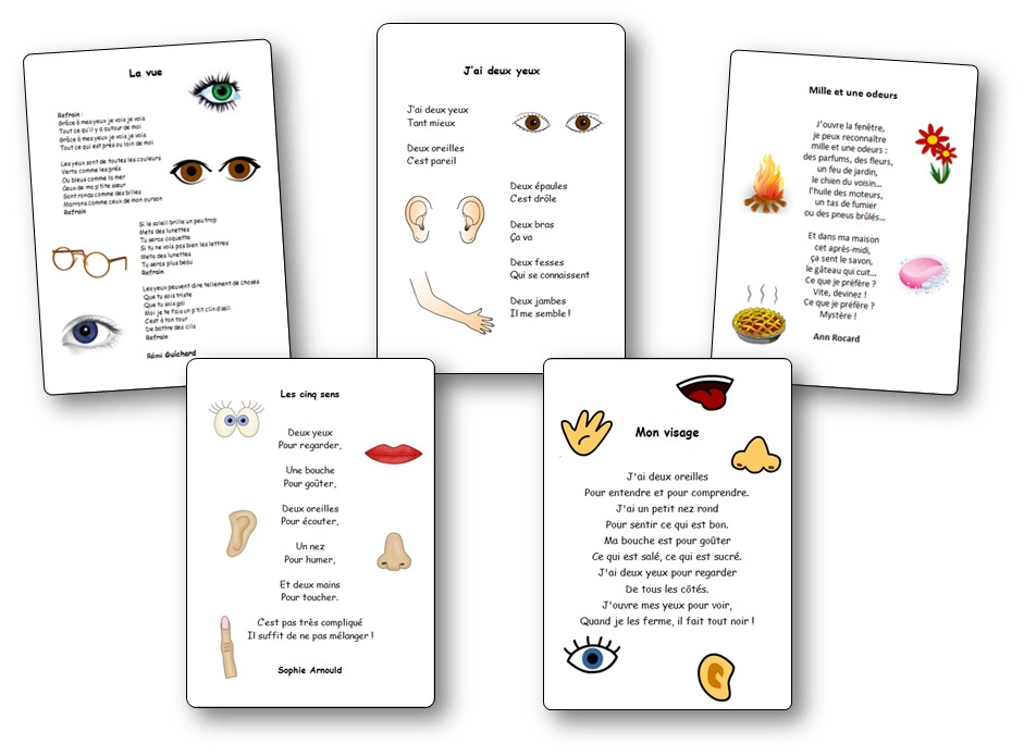 poesie 5 sens maternelle