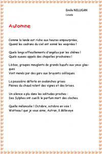 poesie 6eme primaire