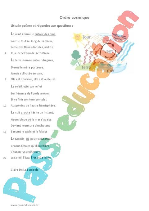 poesie 6eme