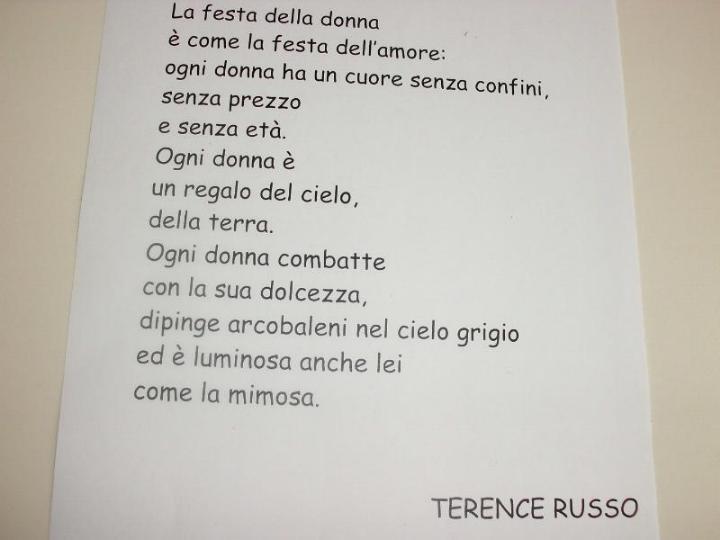 poesie 8 marzo scuola primaria
