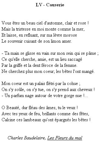 poesie baudelaire