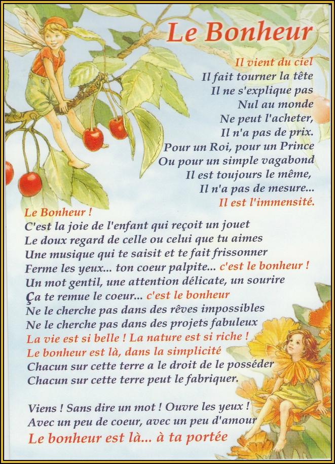 poesie bonheur