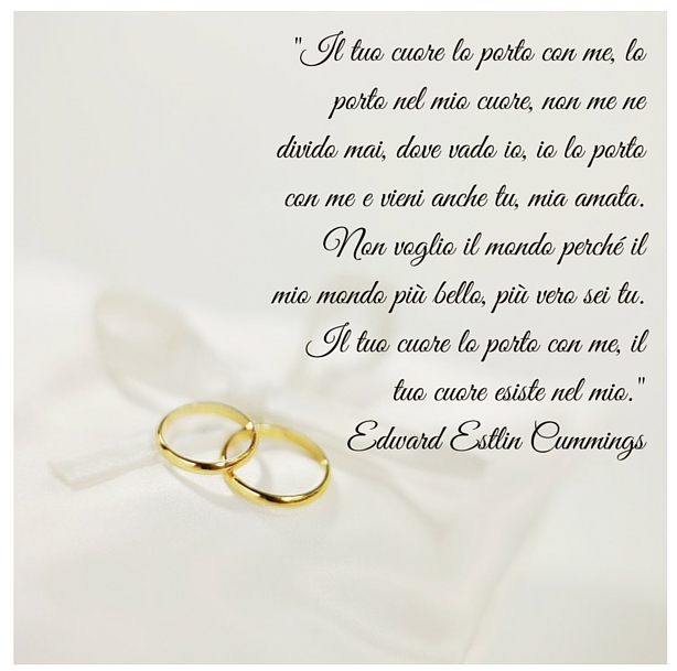 poesie d'amore per matrimonio