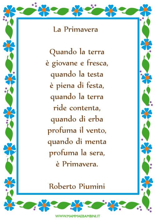 poesie e primavera