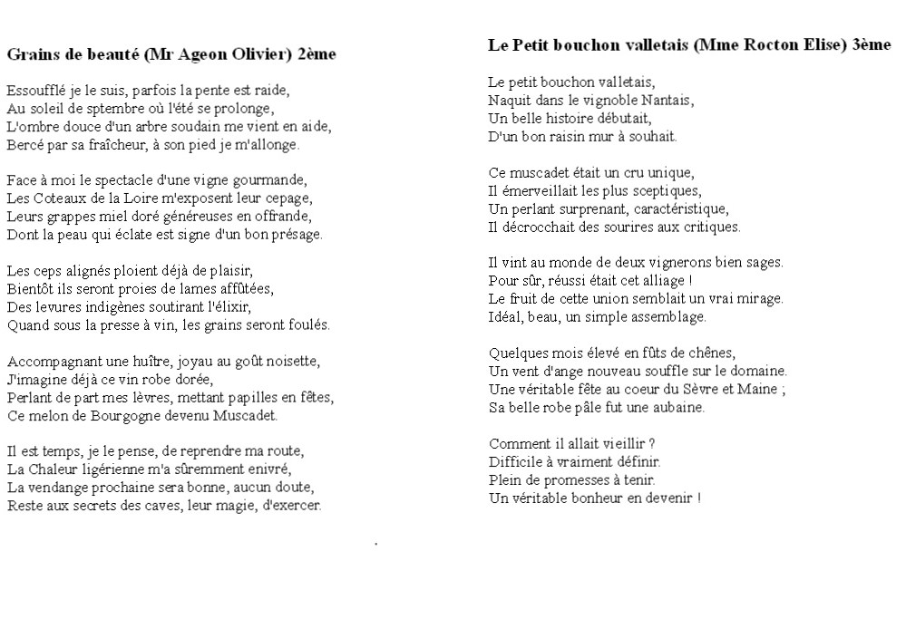 poesie en vers