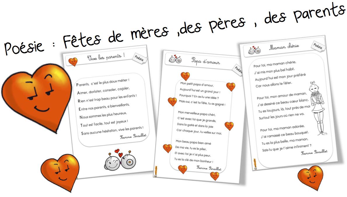 poesie fete des parents