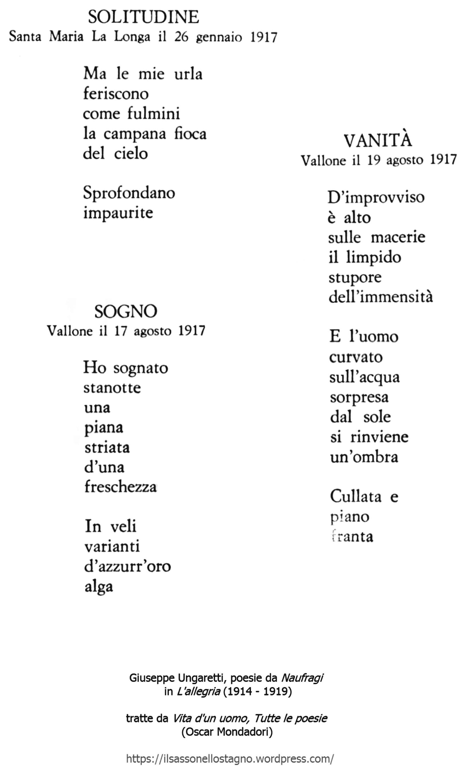 poesie g ungaretti