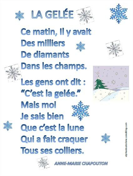 poesie hiver cp