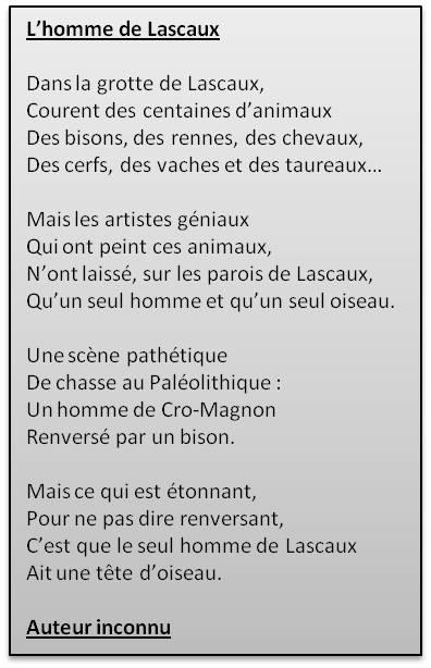 poesie homme de la prehistoire
