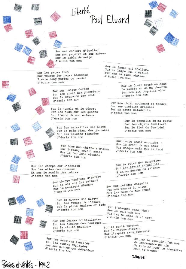 poesie j'ecris ton nom