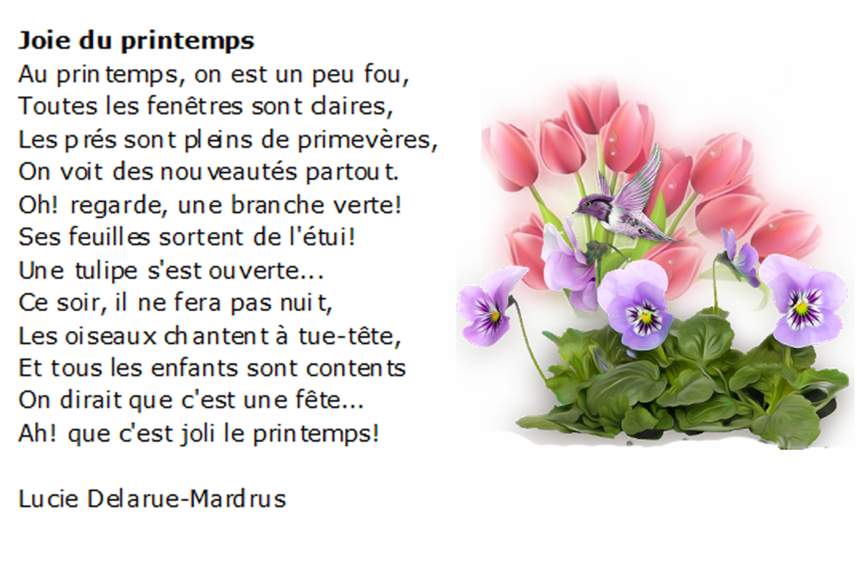 poesie joie du printemps