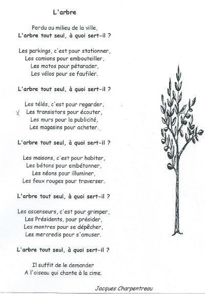 poesie l'arbre
