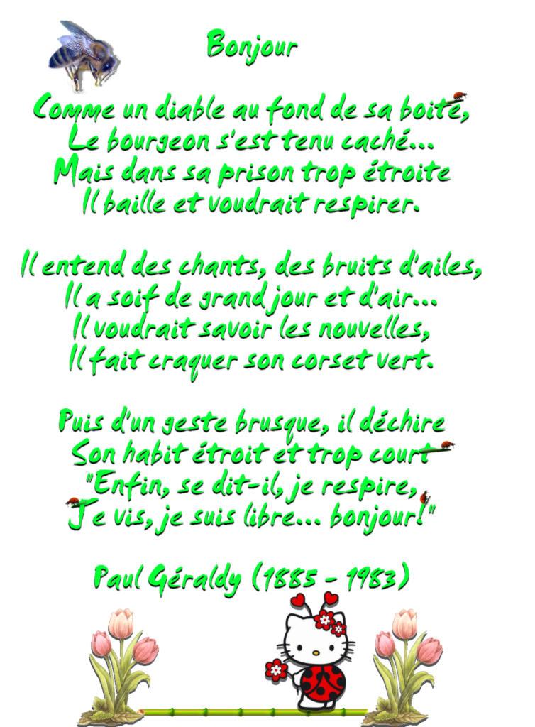 poesie le bourgeon