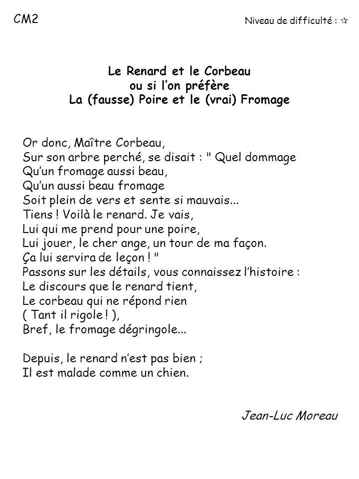 Le Corbeau Et Le Renard Jean De La Fontaine Poesie