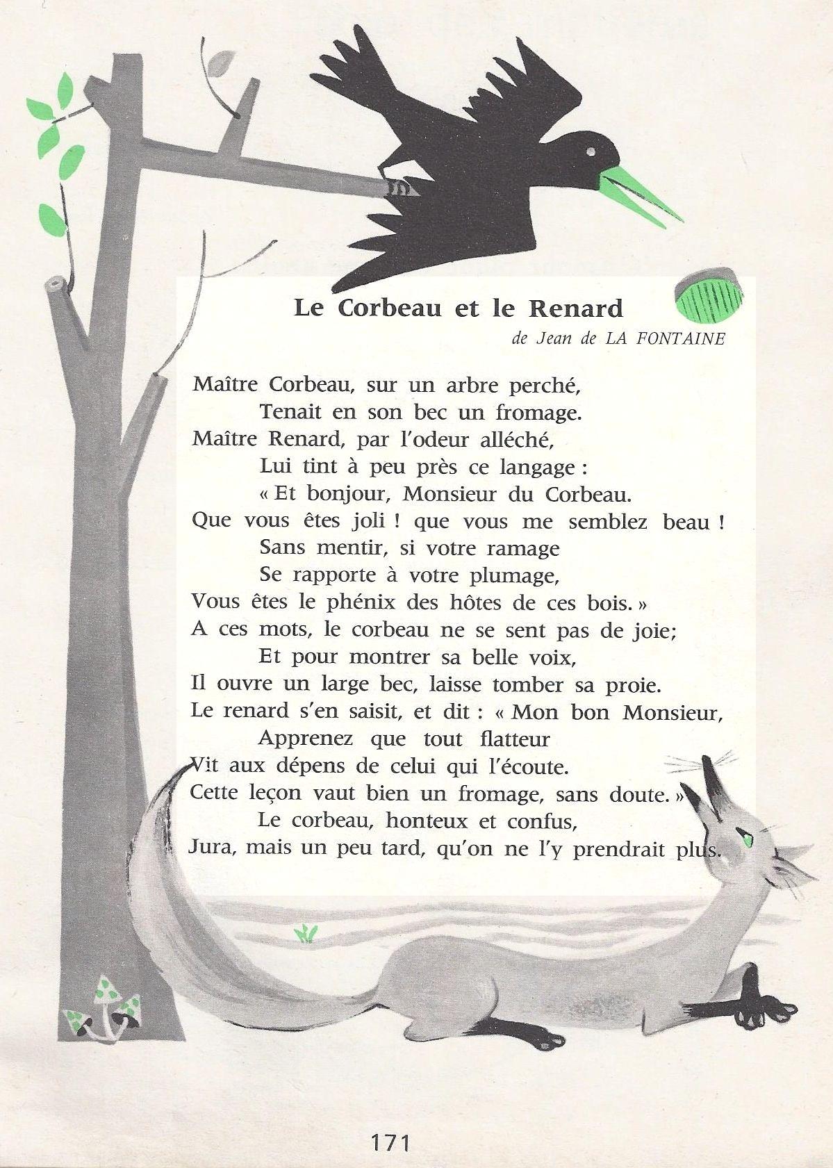poesie le corbeau et le renard