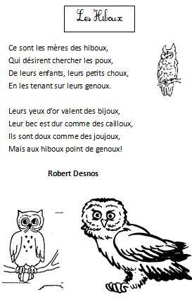 poesie les hiboux