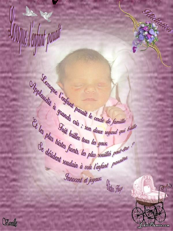 poesie naissance