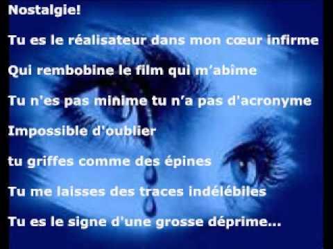 poesie nostalgique