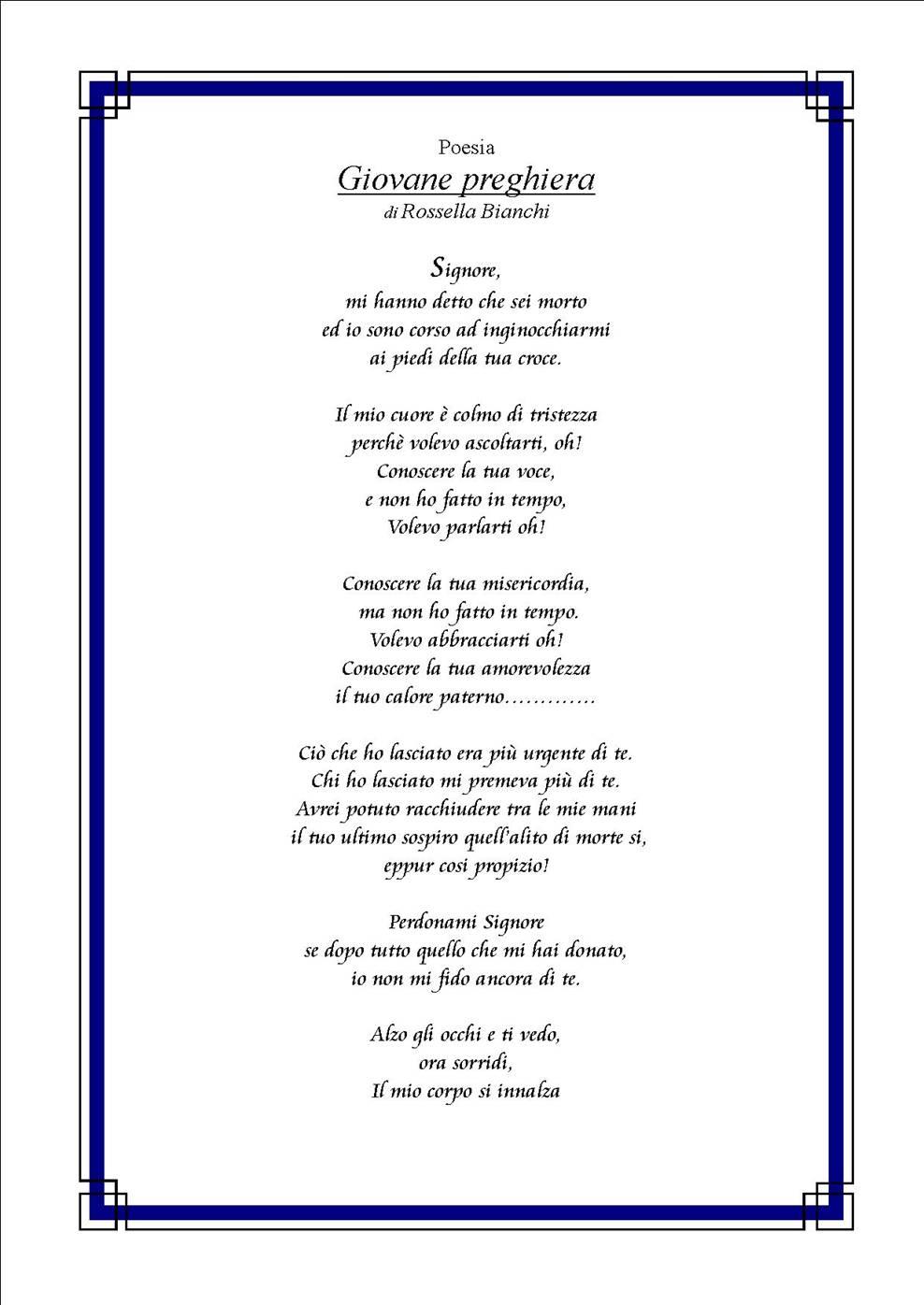 poesie o preghiere per matrimonio