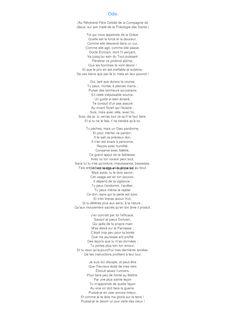 poesie ode