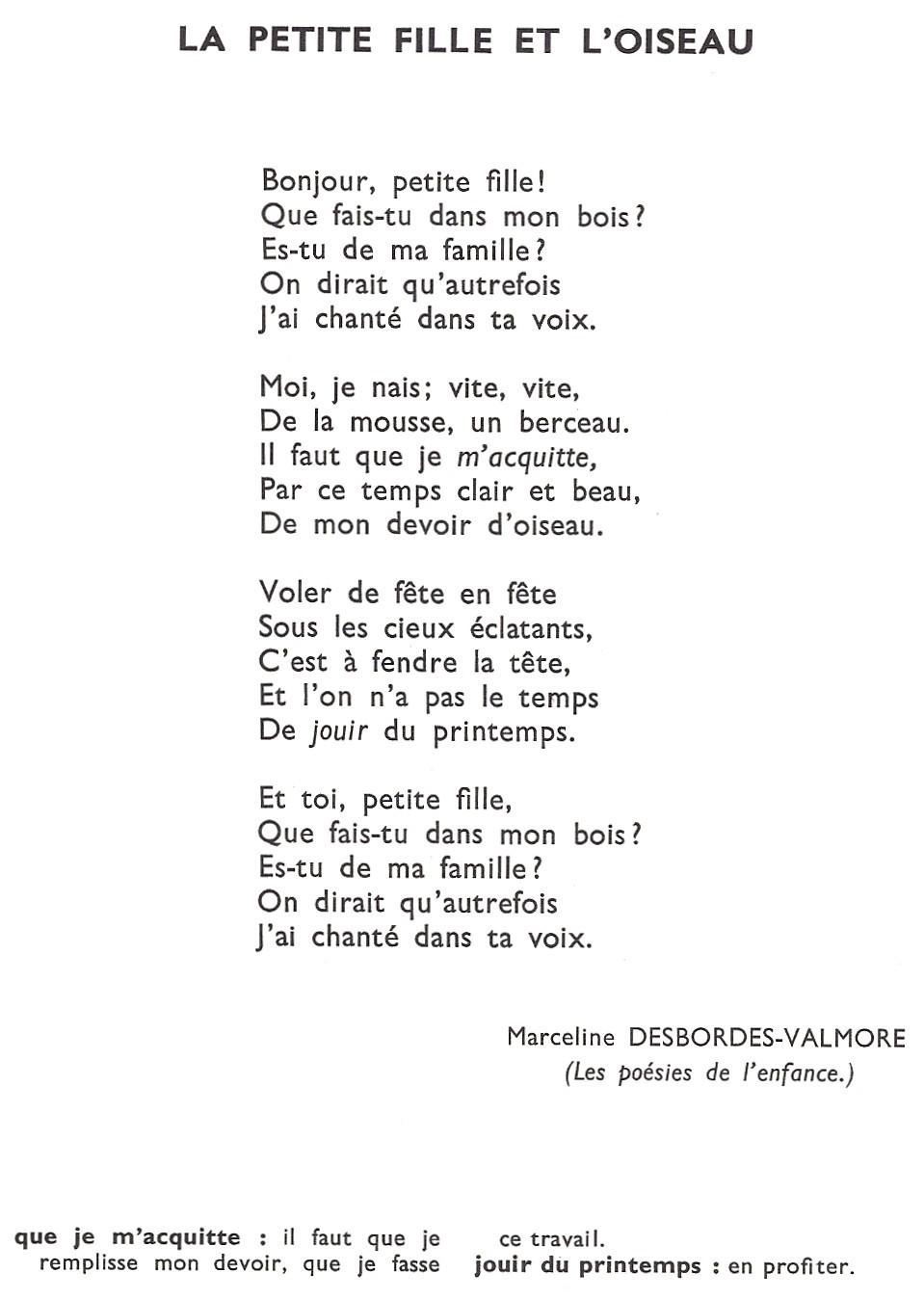 poesie oiseau