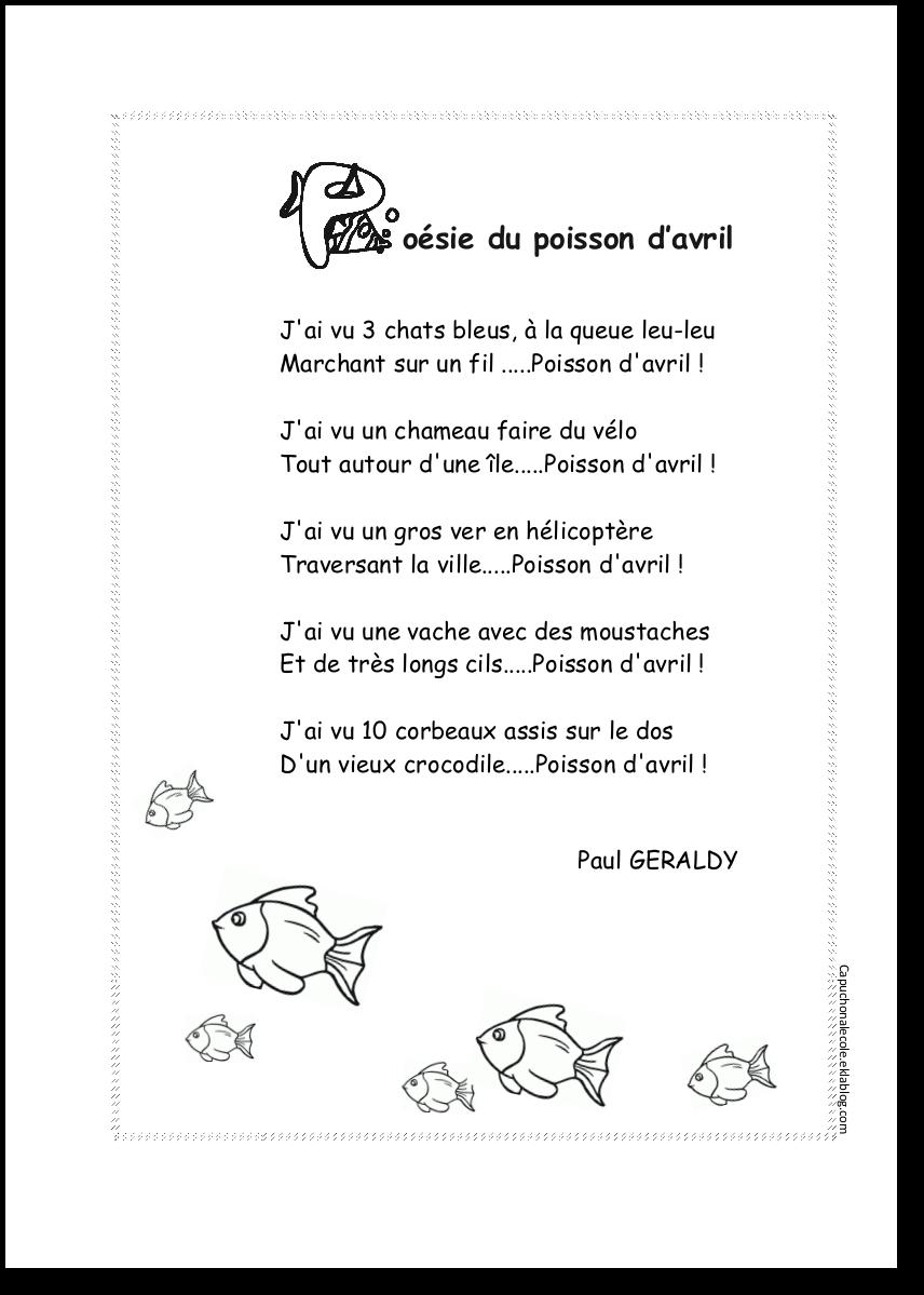 poesie poisson d'avril