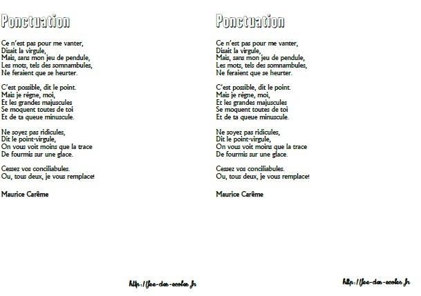 poesie ponctuation