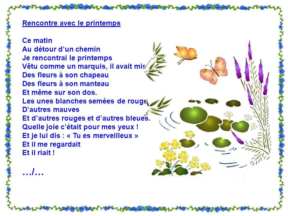 poesie rencontre avec le printemps