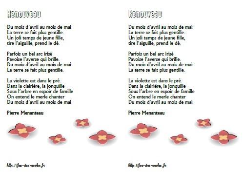 poesie renouveau