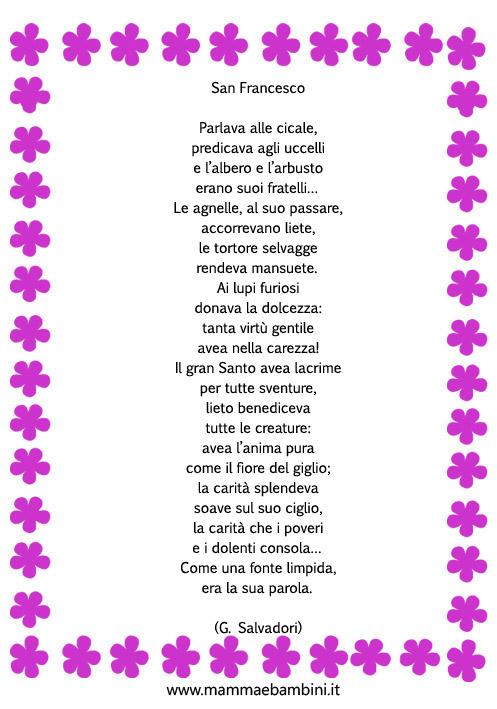 poesie s.francesco d'assisi