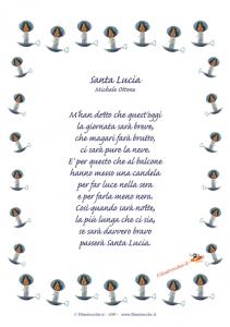 poesie s.lucia per bambini