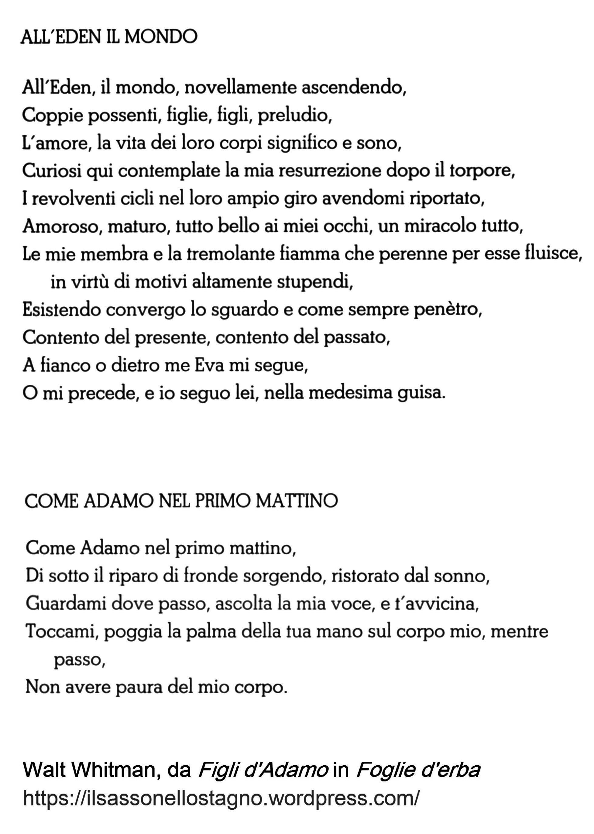 poesie walt whitman